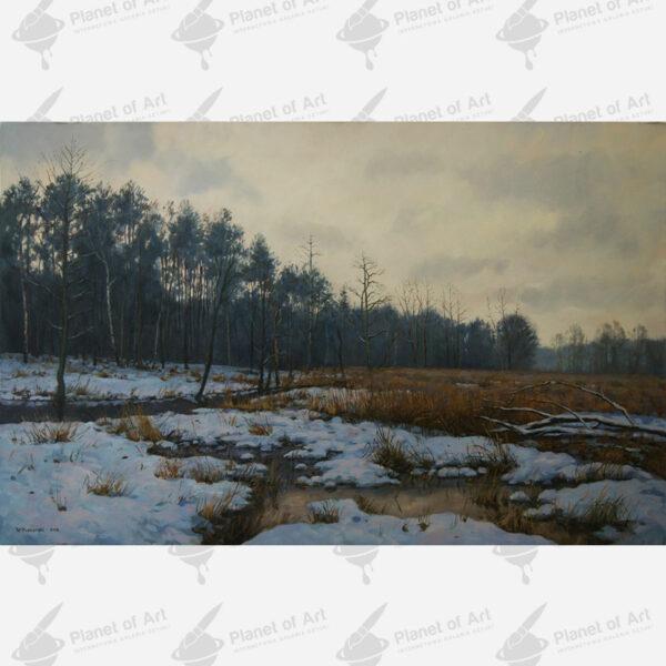Galeria sztuki pejzaż zimowy